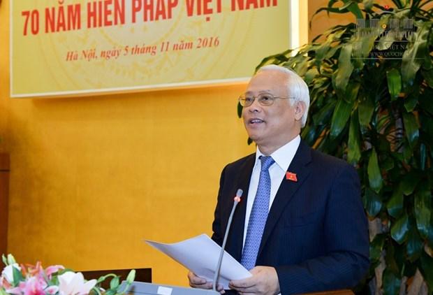 越南宪法实施70周年学术研讨会在河内举行 hinh anh 1