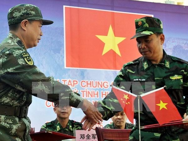 越中举行2016年联合反恐演练 hinh anh 1