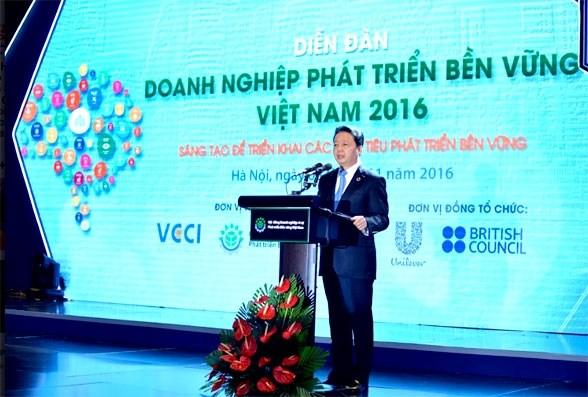 2016年越南可持续发展企业论坛在河内举行 hinh anh 1