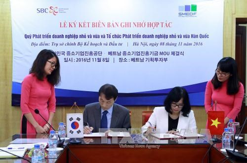 越韩双方推动两国中小型企业发展 hinh anh 1