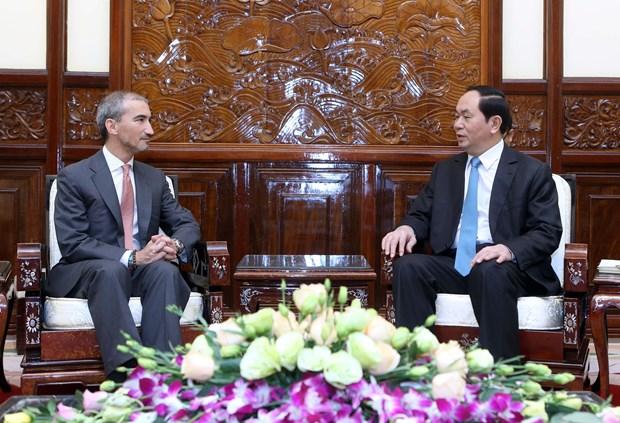越南国家主席陈大光会见前来递交国书的各国新任驻越大使 hinh anh 9