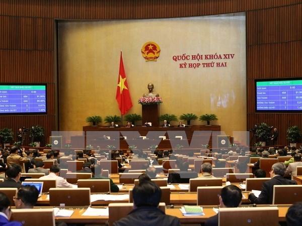 越南第十四届国会第二次会议:国会通过中期公共投资计划(2016-2020年)的决议 hinh anh 1