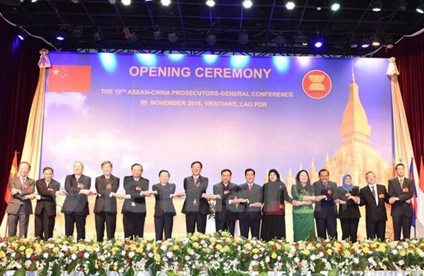 东盟与中国加强打击跨国罪犯方面的合作 hinh anh 1