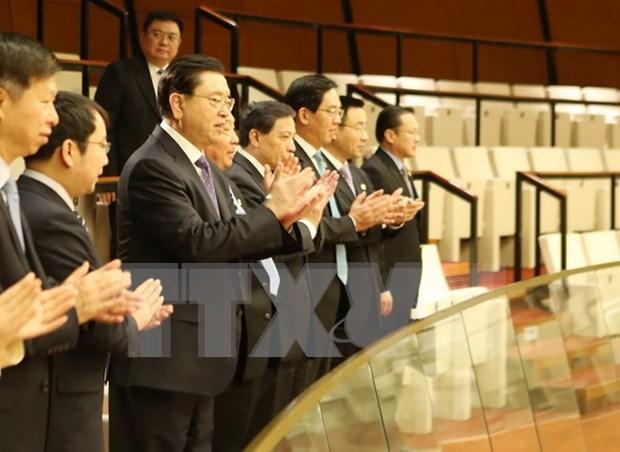 第十四届国会第二次会议:中国党和国家高级代表团旁听大会 hinh anh 1