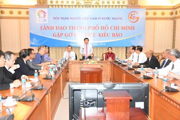 胡志明市领导会见旅外越南人模范代表 hinh anh 1