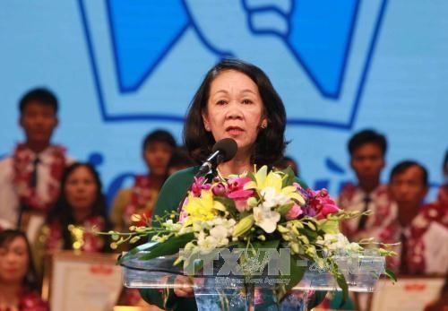 越共中央民运部部长张氏梅出席永福省民族大团结日活动 hinh anh 1