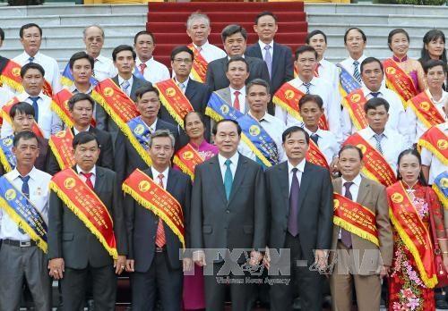 陈大光主席:农业和农村工业化和现代化是越南首要任务之一 hinh anh 1