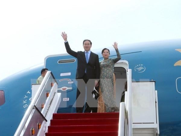 陈大光主席访古并出席APEC第二十四次领导人非正式会议有助于深化双边关系和加强多边外交 hinh anh 1