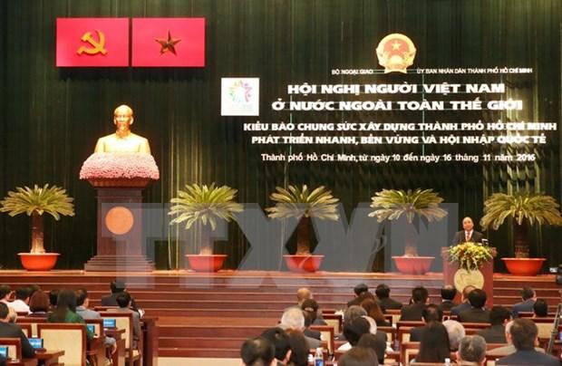阮春福总理:充分发挥海外越侨的力量将胡志明市建成文明、现代、重情尚义的城市 hinh anh 1