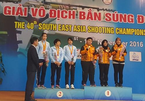 2016年东南亚射击锦标赛落幕 31项纪录被打破 hinh anh 1