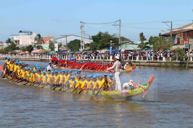 越南南部地区高棉族人欢度拜月节 hinh anh 1