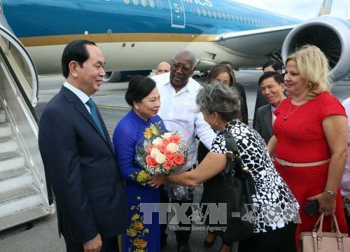 越南国家主席陈大光拜会古巴革命领袖菲德尔·卡斯特罗 hinh anh 1