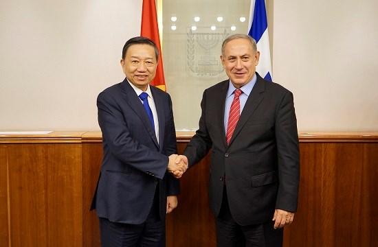 越南公安部长苏林对以色列进行工作访问 hinh anh 1