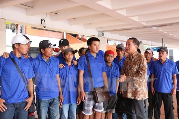 印尼释放39名越南渔民 hinh anh 1