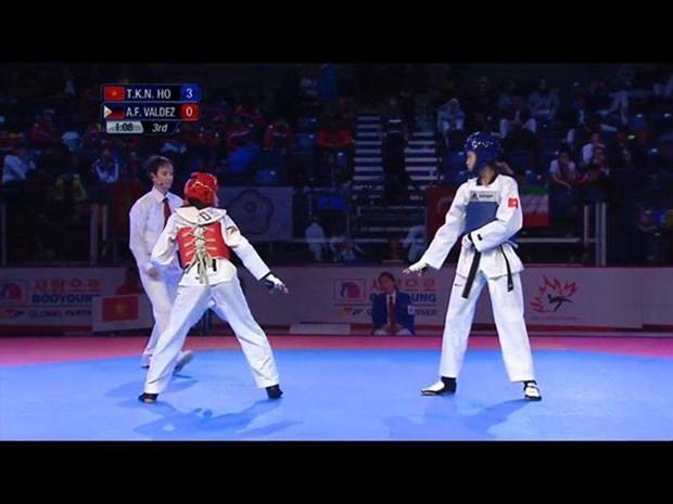 2016年世界青年跆拳道锦标赛:越南运动员胡氏金银夺金 hinh anh 1