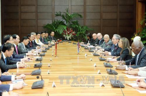 越南与古巴发表联合声明 hinh anh 1
