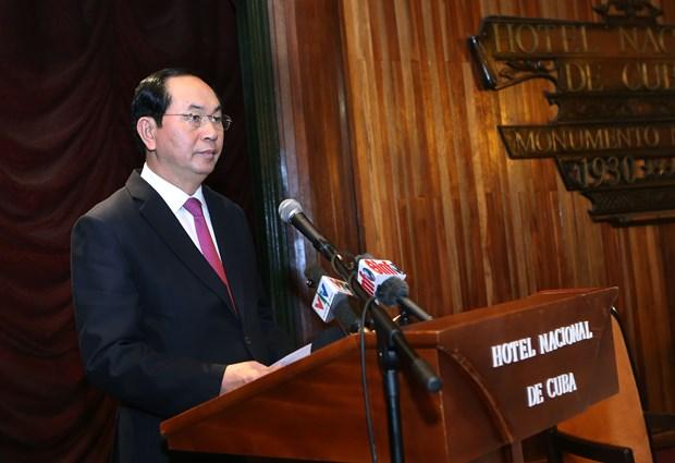 陈大光主席出席越古企业论坛 圆满结束对古巴访问 hinh anh 2