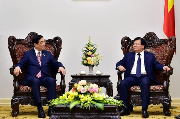 郑廷勇副总理会见红十字会与红新月会国际联合会代表团 hinh anh 1