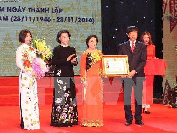 越南国会主席阮氏金银出席越南红十字会成立70周年纪念仪式 hinh anh 1