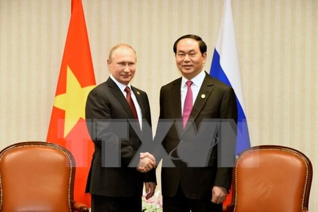 陈大光主席与各国元首和领导人举行双边会晤 hinh anh 1