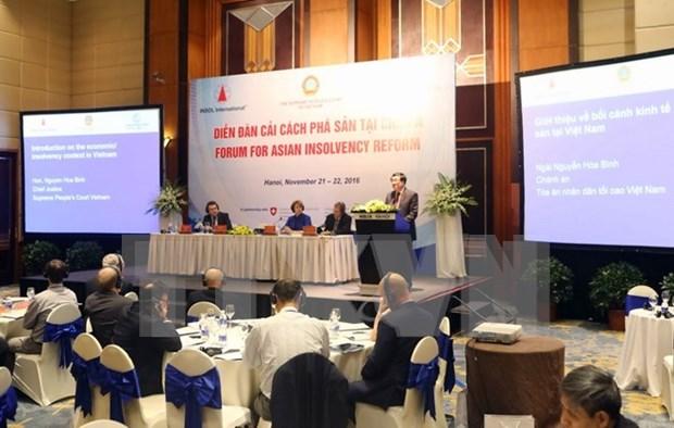 第10次亚洲破产改革论坛在河内举行 hinh anh 1