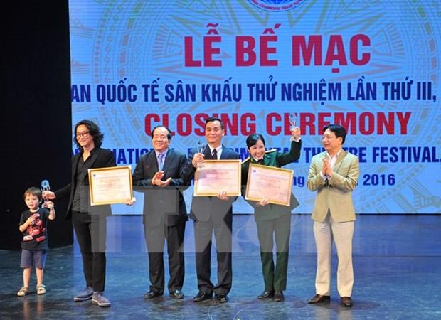 第三次国际实验戏剧节闭幕:越南夺得17枚金牌 hinh anh 1