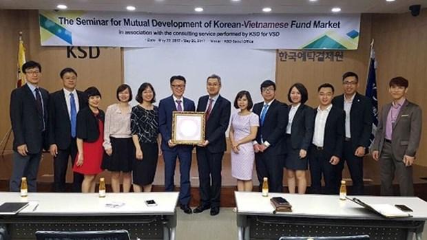 越南证券托管中心与韩国证券托管公司加强投资基金服务业务的合作 hinh anh 1