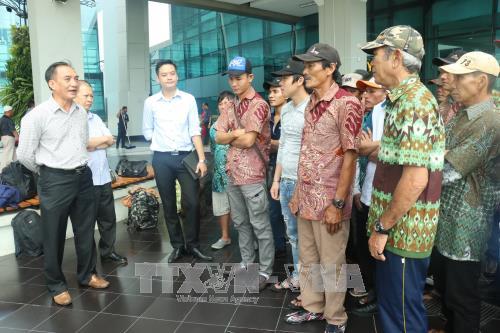 众多越南渔民春节前被印尼释放 hinh anh 1
