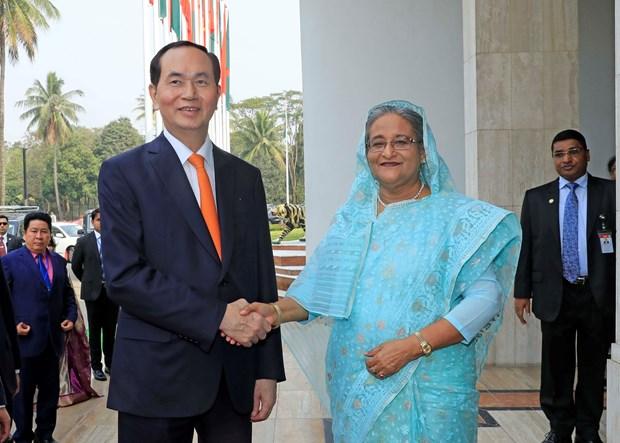 越南国家主席与孟加拉国总理谢赫•哈西娜举行会谈 hinh anh 2