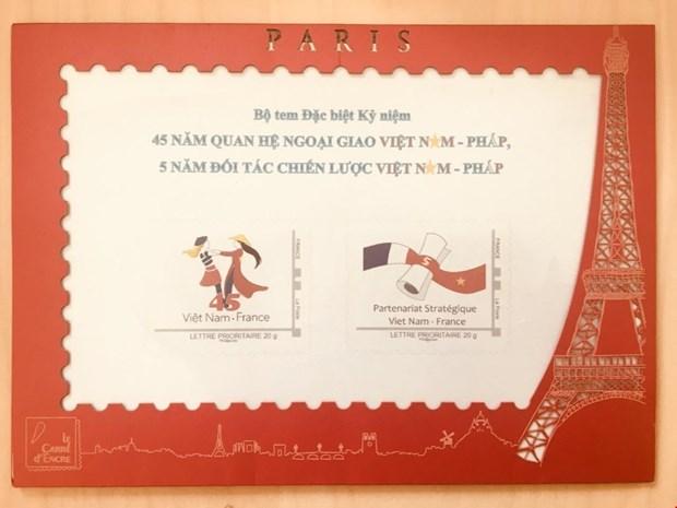 越法建交纪念邮票正式发行 hinh anh 1