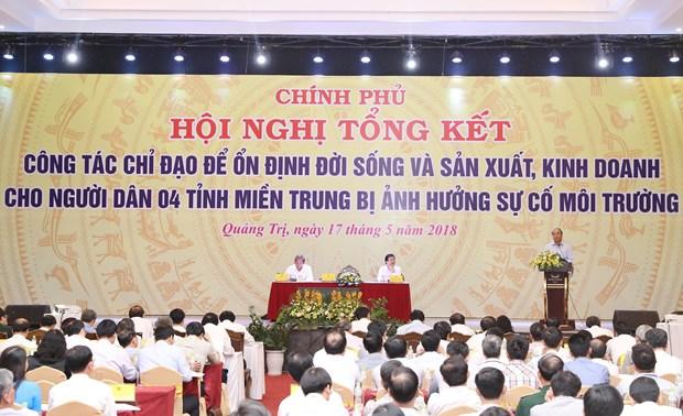 阮春福:处理台塑越南钢铁厂海洋环境污染事故为地方政府提供了重要的经验和教训 hinh anh 1