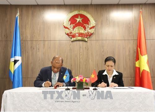 越南与圣卢西亚建立外交关系 hinh anh 1