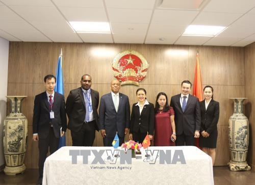 越南与圣卢西亚建立外交关系 hinh anh 2