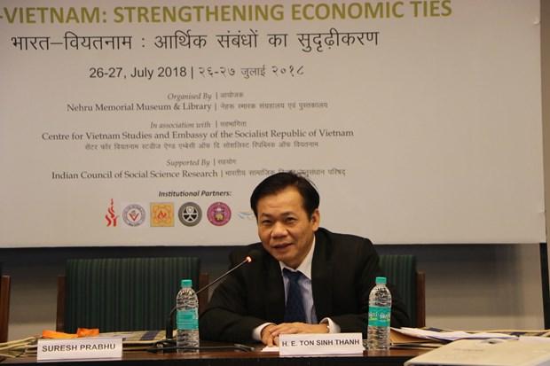 加强越南与印度经济关系国际研讨会在印度举行 hinh anh 1