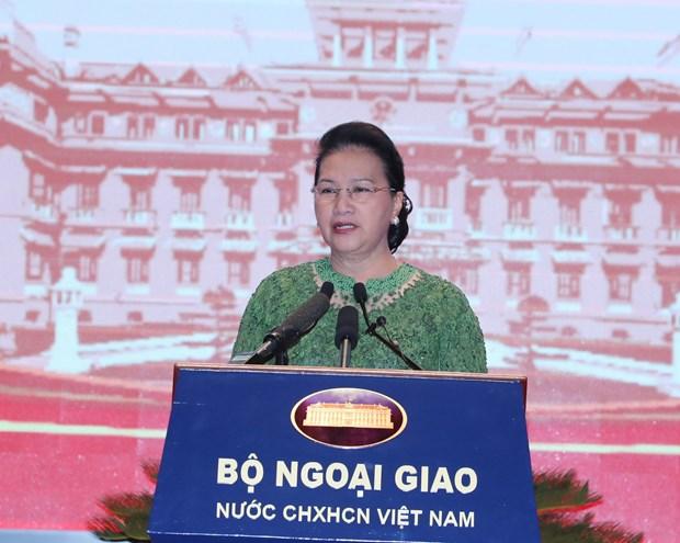 越南国会主席阮氏金银:加强与邻国、东盟成员国、战略伙伴、全面伙伴和传统友好国家的合作关系 hinh anh 2