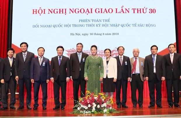 越南国会主席阮氏金银:加强与邻国、东盟成员国、战略伙伴、全面伙伴和传统友好国家的合作关系 hinh anh 3
