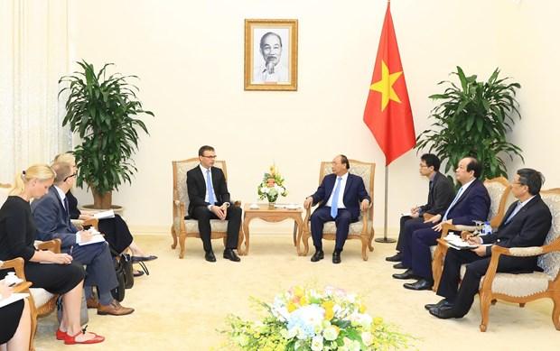 越南政府总理阮春福会见爱沙尼亚外长 hinh anh 2