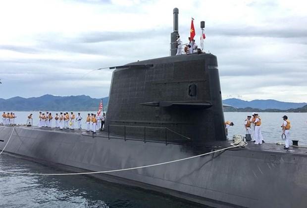 日本海上自卫队的潜舰黑潮访问金兰港 hinh anh 1
