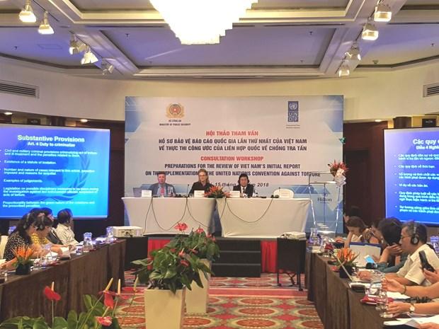 越南将于今年11月份发表《联合国禁止酷刑公约》执行情况的国家报告 hinh anh 1