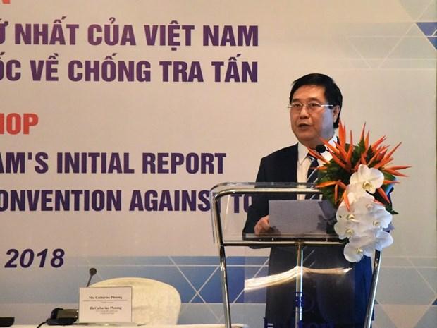 越南将于今年11月份发表《联合国禁止酷刑公约》执行情况的国家报告 hinh anh 2