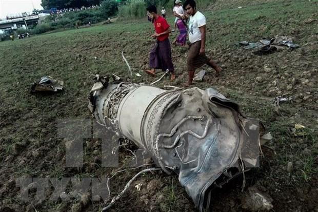 缅甸2架军用飞机坠毁 致3人死亡 hinh anh 1
