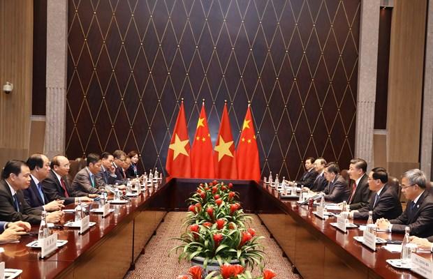 越南政府总理阮春福会见中共中央总书记、中国国家主席习近平 hinh anh 2