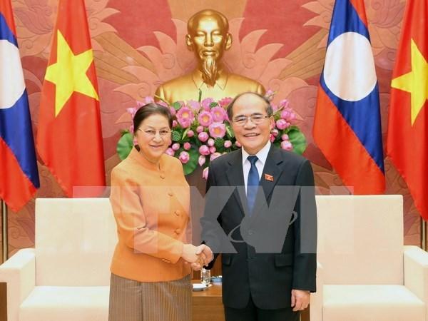 国会主席阮生雄会见老挝国会主席巴妮•雅陶都 hinh anh 1