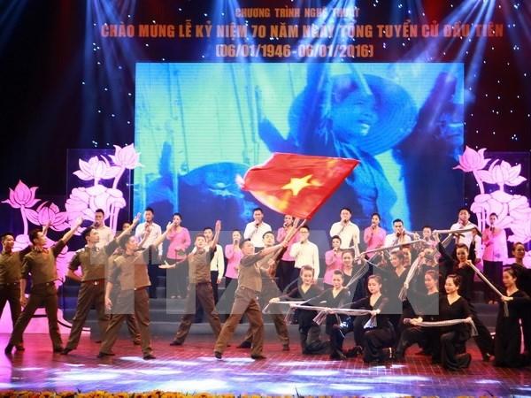 """纪念越南首次普选的""""光荣越南国会""""艺术晚会在河内举行 hinh anh 1"""