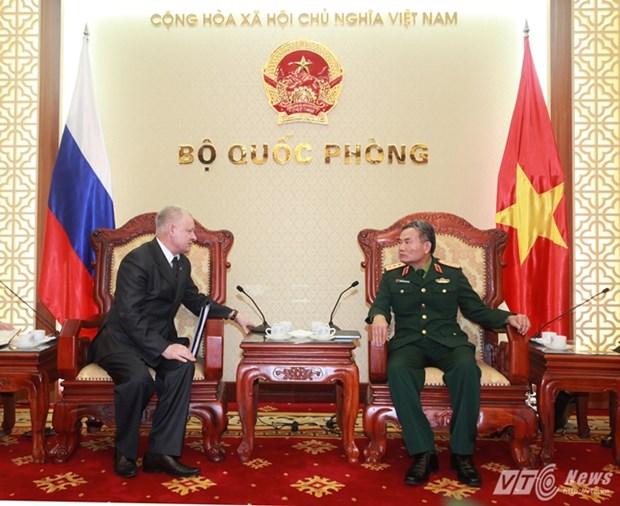 越南国防部领导会见俄罗斯驻越大使馆军事技术合作参赞 hinh anh 1