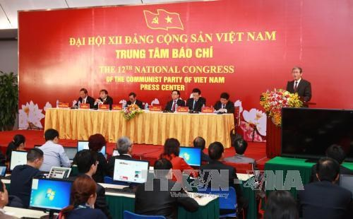越南共产党第十二次全国代表大会新闻发布会在河内举行 hinh anh 1