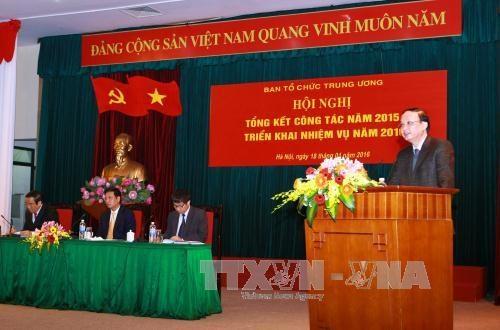 越共中央组织部对2016年任务进行部署 hinh anh 1