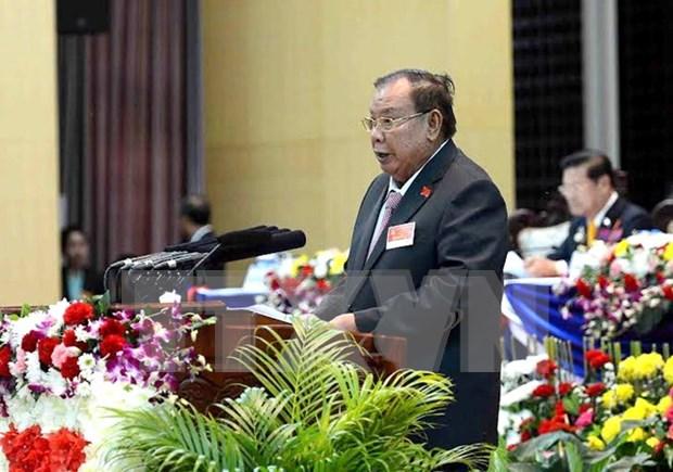 老挝人民革命党第十次全国代表大会胜利闭幕 hinh anh 1