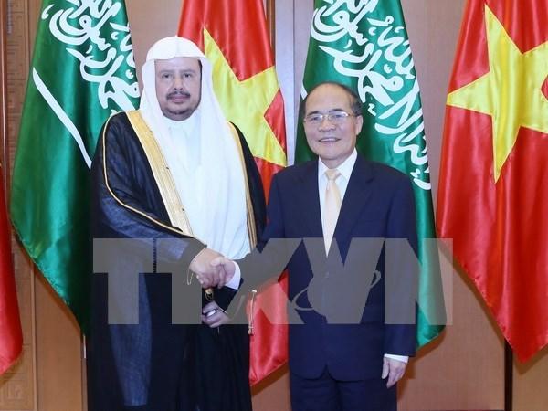越南国会主席阮生雄同沙特阿拉伯王国协商会议主席会谈 hinh anh 1