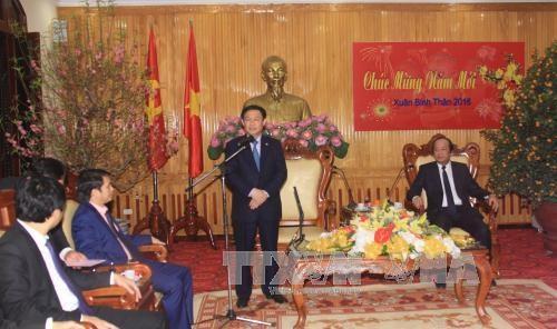 越南党和国家领导向各机构和地方拜年 hinh anh 3